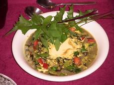 Chicken Veg Soup with Dandelion
